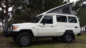 landcruiser pop top campervan